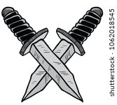 crossed knives cartoon... | Shutterstock .eps vector #1062018545