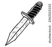 knife cartoon illustration... | Shutterstock .eps vector #1062023102