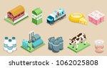 isometric dairy factory... | Shutterstock .eps vector #1062025808