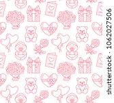 valentines day seamless pattern.... | Shutterstock .eps vector #1062027506