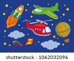 fairy clipart fly space color... | Shutterstock .eps vector #1062032096