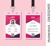 modern identity card design...   Shutterstock .eps vector #1062032405