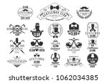 monochrome vector set of... | Shutterstock .eps vector #1062034385