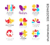 vector set of multi colored... | Shutterstock .eps vector #1062039428