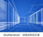 sketch design of interior hall  ...   Shutterstock . vector #1062042218