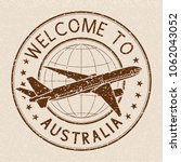 welcome to australia travel... | Shutterstock .eps vector #1062043052