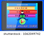 online foreign language courses.... | Shutterstock .eps vector #1062049742