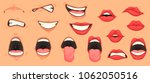 Cartoon Cute Mouth Expressions...