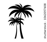 black vector two palm tree... | Shutterstock .eps vector #1062057608
