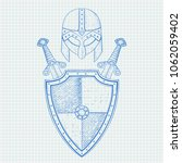 viking warrior set   shield ... | Shutterstock . vector #1062059402