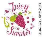 juicy summer inscription on the ... | Shutterstock .eps vector #1062060185