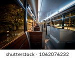 interior of a tram in hong kong | Shutterstock . vector #1062076232