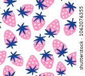 strawberry seamless background. ... | Shutterstock .eps vector #1062076355