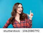 lovely young girl with nude... | Shutterstock . vector #1062080792