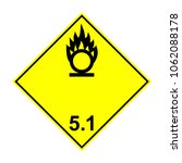 adr 5.1 oxidizing substance ... | Shutterstock .eps vector #1062088178
