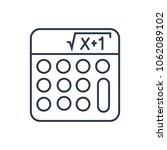 math icon. isolated mathematics ... | Shutterstock .eps vector #1062089102