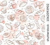 bakery doodle background.... | Shutterstock .eps vector #1062093902