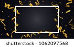 golden ribbon with confetti... | Shutterstock .eps vector #1062097568