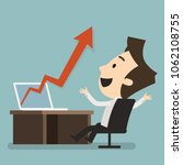 graph to success  business... | Shutterstock .eps vector #1062108755