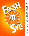 fresh sale of 70 percent.... | Shutterstock .eps vector #1062110918