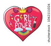 vector girl power label or...   Shutterstock .eps vector #1062111026