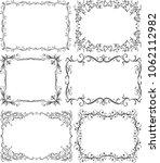 set of 6 black vector frames...   Shutterstock .eps vector #1062112982