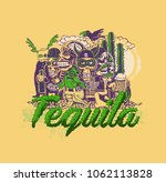 tequila typography design for t ... | Shutterstock .eps vector #1062113828