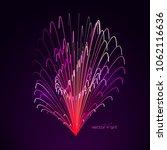 3d firework art. abstract...   Shutterstock .eps vector #1062116636