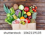 natural healthy food.  food in... | Shutterstock . vector #1062119135
