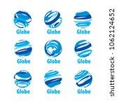 vector logo globe | Shutterstock .eps vector #1062124652