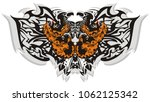 tribal butterfly wings with... | Shutterstock .eps vector #1062125342
