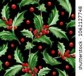seamless pattern with christmas ... | Shutterstock .eps vector #1062127748