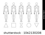 types of the female figure  a... | Shutterstock .eps vector #1062130208