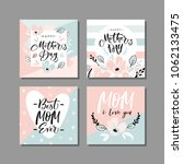 set of cute greeting cards for... | Shutterstock .eps vector #1062133475