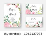 pink hydrangea  powder rose ... | Shutterstock .eps vector #1062137075