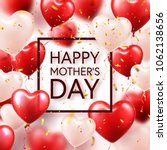 mothers day background with red ... | Shutterstock .eps vector #1062138656