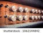 old guitar amplifier control... | Shutterstock . vector #1062144842