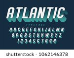condensed retro display font... | Shutterstock .eps vector #1062146378