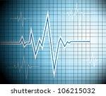 abstract heart beats cardiogram ... | Shutterstock .eps vector #106215032