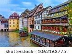 european river town houses... | Shutterstock . vector #1062163775