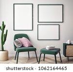 mock up poster with vintage...   Shutterstock . vector #1062164465