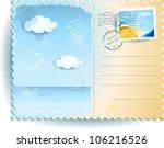 sea postcard  vector... | Shutterstock .eps vector #106216526