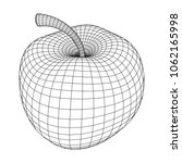 apple wireframe low poly mesh... | Shutterstock .eps vector #1062165998