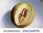 galia melon  sarda in india and ... | Shutterstock . vector #1062168956
