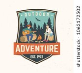 outdoor adventure badge. vector ... | Shutterstock .eps vector #1062172502