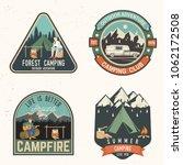 set of summer camp badges....   Shutterstock .eps vector #1062172508