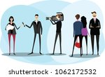 the film crew. vector... | Shutterstock .eps vector #1062172532