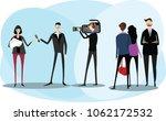 the film crew. vector... | Shutterstock .eps vector #1062172532