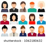 men and women avatars without... | Shutterstock .eps vector #1062180632