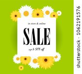 spring sale background with... | Shutterstock .eps vector #1062191576